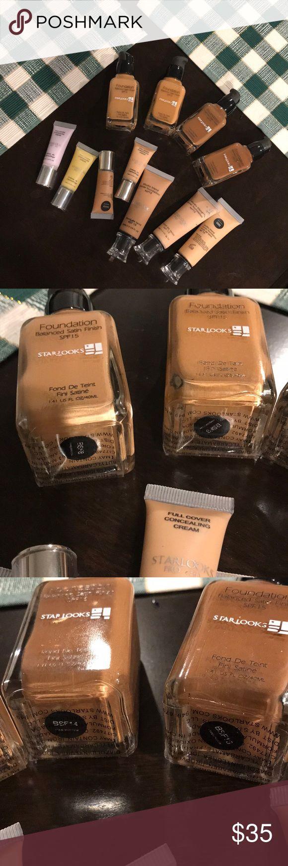 Medium to dark foundation bundle Lot of medium to dark shade of liquid foundation and concealer. Full coverage Makeup Foundation