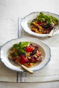 5:2 Diet / Fast Diet Recipe - Roasted vegetable and cous cous salad...160 calories per serving