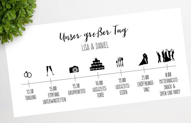 Pin Auf Diy Hochzeit Programm Timeline Vorlage Word