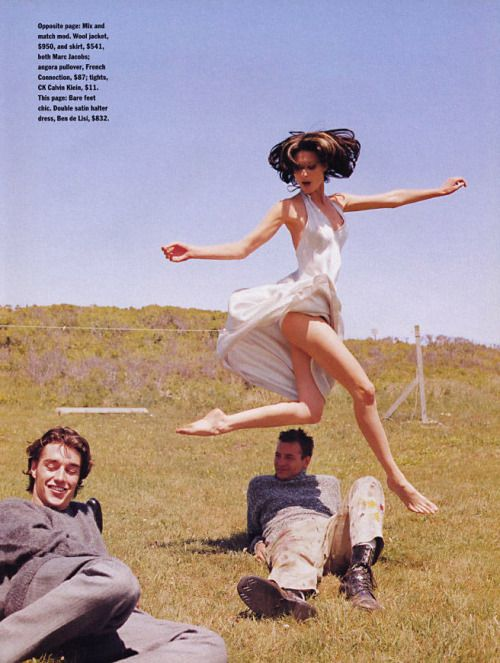 Shalom Harlow by Patrick Demarchelier for US Marie Claire September 1995