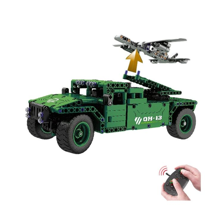 #transformer rc car building bricks construction toy 453pcs military jeep ua...