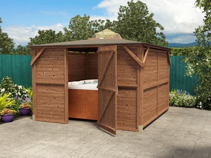 Unwind in your hot tub with complete protection from outdoor elements and privacy by opting for our full timber door. Attached to the front panels of the Erin Gazebo via hinges, the single door provides extra security by obstructing the view of your hot tub, garden furniture or stargazing equipment when it is not in use. When the Erin Gazebo is in use, the small space at the top of the Gazebo and just below the Perspex dome reduces the buildup of condensation.