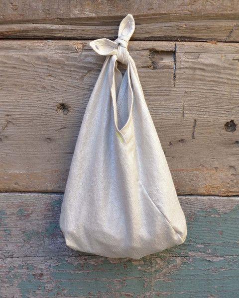 Silver Linen Azuma Bag