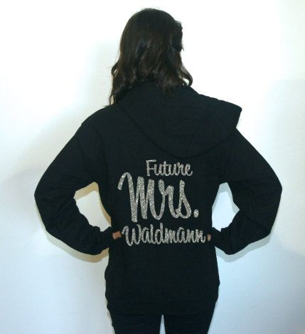 Future Mrs sweatshirt. Fleece Lined Bridal by BrideAndEntourage