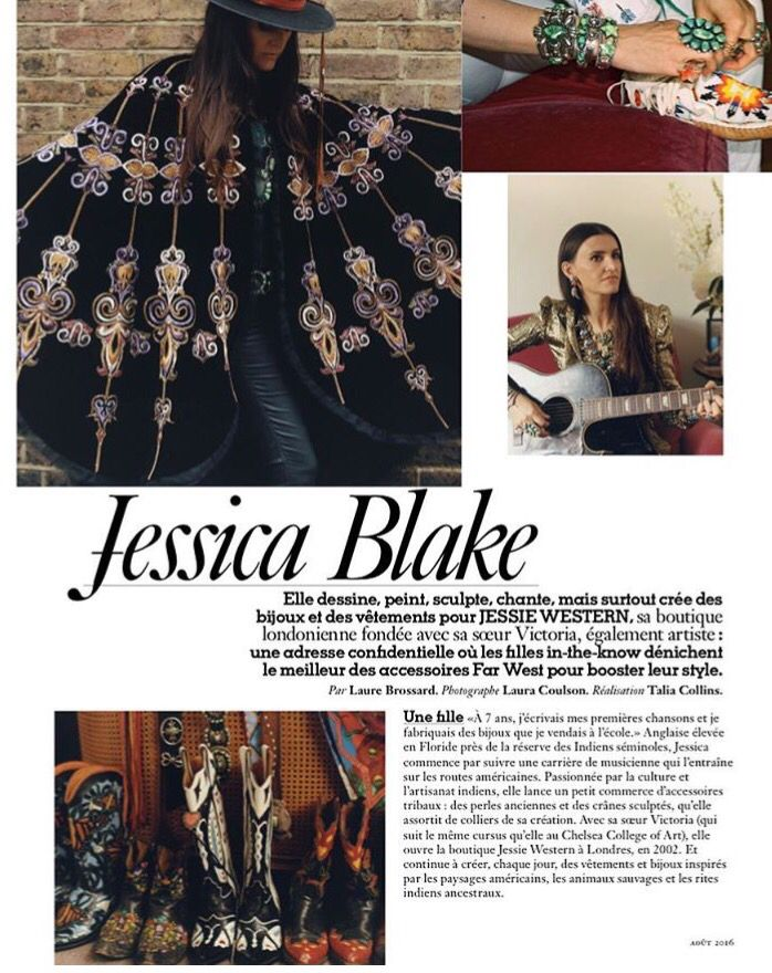 ❤️Vogue Paris feature with Jessica seen wearing Cavalli & all Jessie western jewellery and accessories from www.jessiewestern.com#jessiewestern#vogueparis#vogue#voguefeature#navajo # turquoisejewellery#style#stylist#voguestyle#annadellorusso#voguejapan#nottinghill#cowboyboots#countrymusic#aw16