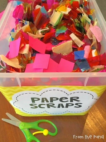 Making Use of Paper Scraps - Classroom Art and Craft Idea