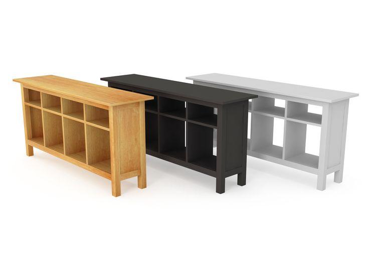 3d model solid ikea console table 3d model
