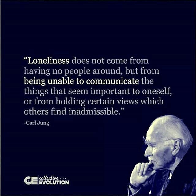 Does this definition of loneliness resonate with you? What do you believe loneliness means? I can feel alone in a room full of people (i used to call it social anxiety). I can feel like I am projecting thoughts to unknown numbers on the internet without reaching any. I am choosing not to feel alone & unheard. Truth is I alone Am enough. I am my own best friend and relating audience. It comes back to what environment I choose to be in. I am hungry not for superficial attention or a…