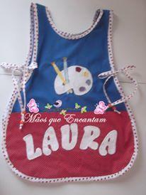 Avental para as aulas de pinturas da Laura.