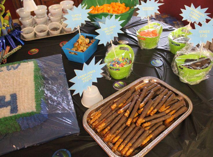 Ninja Turtle party food   for parties   Pinterest