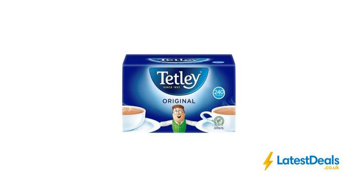Tetley Original Tea Bags 240pk, £3 at ASDA