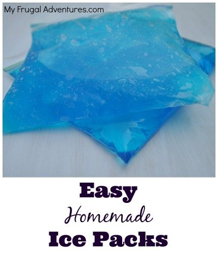 Quick and easy DIY Gel Ice Packs. Just one ingredient you probably already have + a Ziploc. Great pin if you have children!