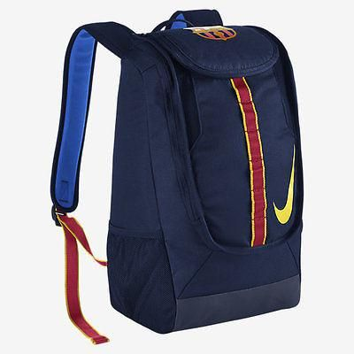NIKE FC BARCELONA ALLEGIANCE SHIELD COMPACT SOCCER BACKPACK 2016/17.   CLUB PRIDE. AMPLE STORAGE. The FC Barcelona Allegiance Shield Compact Soccer Backpack f