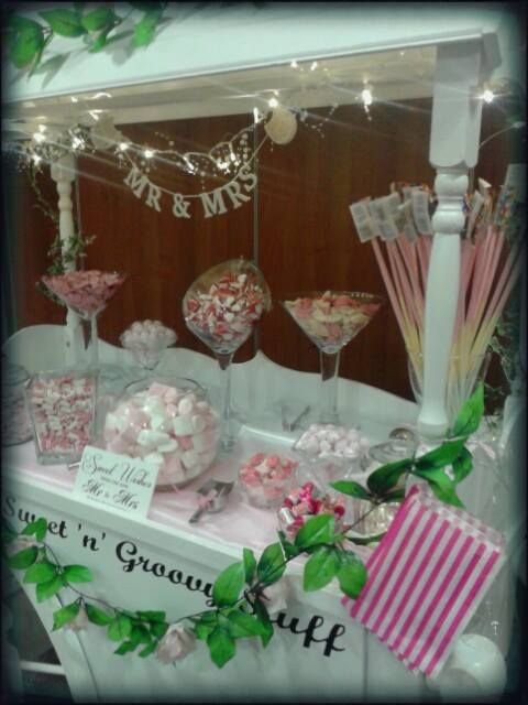 #Sweetcart #vintage #traditional #sweet #sweets #Wedding #Candy #Cart #Party #beautiful  #vintage #pretty #love #buffet #manchester  #Pink & #White theme