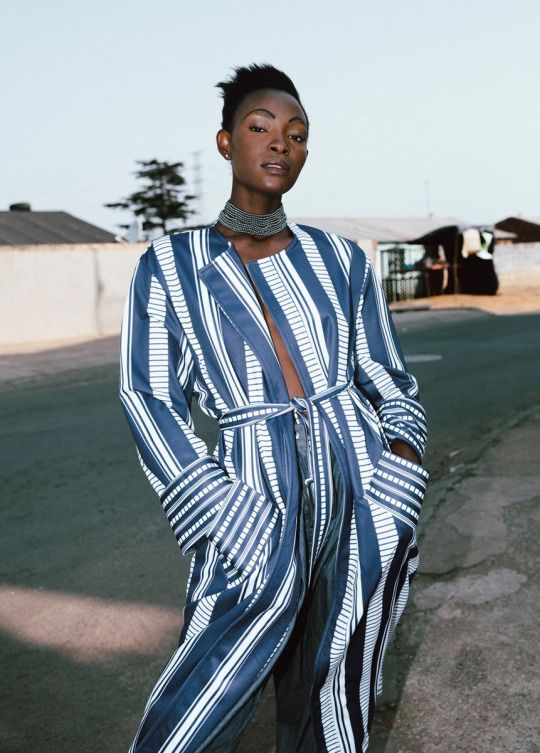 SS16 lookbook for emerging South African designer Rich Mnisi's brand OATH studio.
