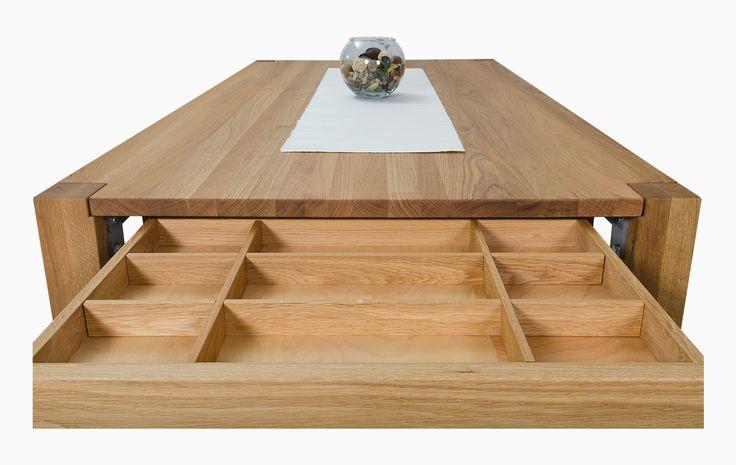 Tisch Kolibri mit Auszug und Schublade - Kollux Gmbh