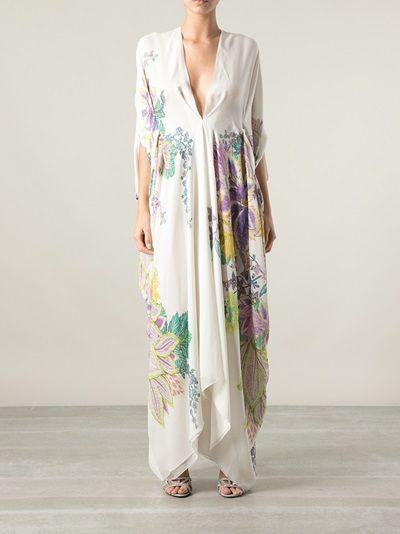 Roberto Cavalli - floral print kaftan dress 7
