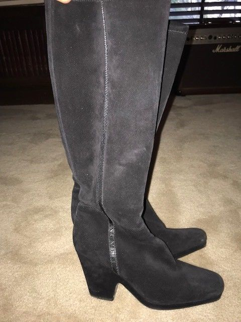 637f0eec1903 PRADA Sport Platform Knee-High Boots - Size 38 Black Suede Great Condition   fashion  clothing  shoes  accessories  womensshoes  boots (ebay link)
