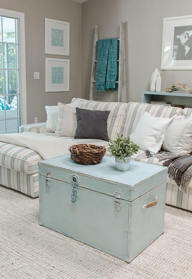Shabby Chic Beach Style Living Room Decor Ideas