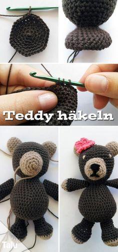 Teddy Häkeln Im Amigurumi Stil Kostenlose Anleitung Pinterest