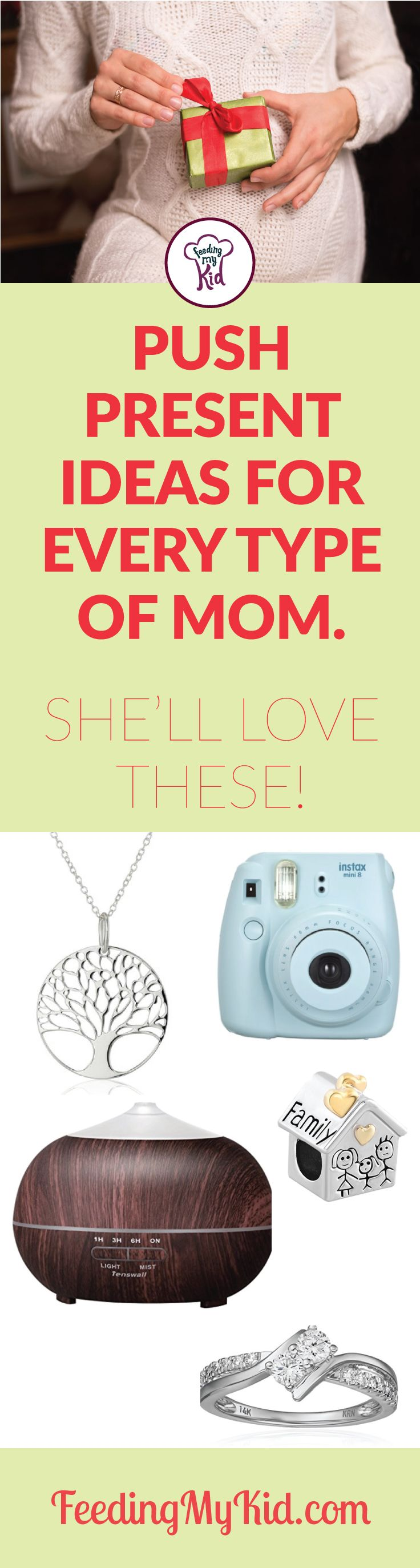 Need some creative push present ideas? This list has them! From ideas for the tech mom to the crafty mom, she'll love these gifts.