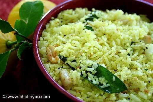 """南インドの定番ご飯レシピのご紹介です。その名も""""レモンライス""""。名前通り、さっぱりしていてます。現地では暑い時期によく食べられ、またレモンが入っていて持ちがいいので、お弁当の定番でもあります。南インド的酢飯をお試しください!!"""