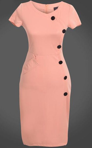 Shop Pink Short Sleeve Slim Buttons Bodycon Dress online. Sheinside offers Pink Short Sleeve Slim Buttons Bodycon Dress & more to fit your fashionable needs. Free Shipping Worldwide!
