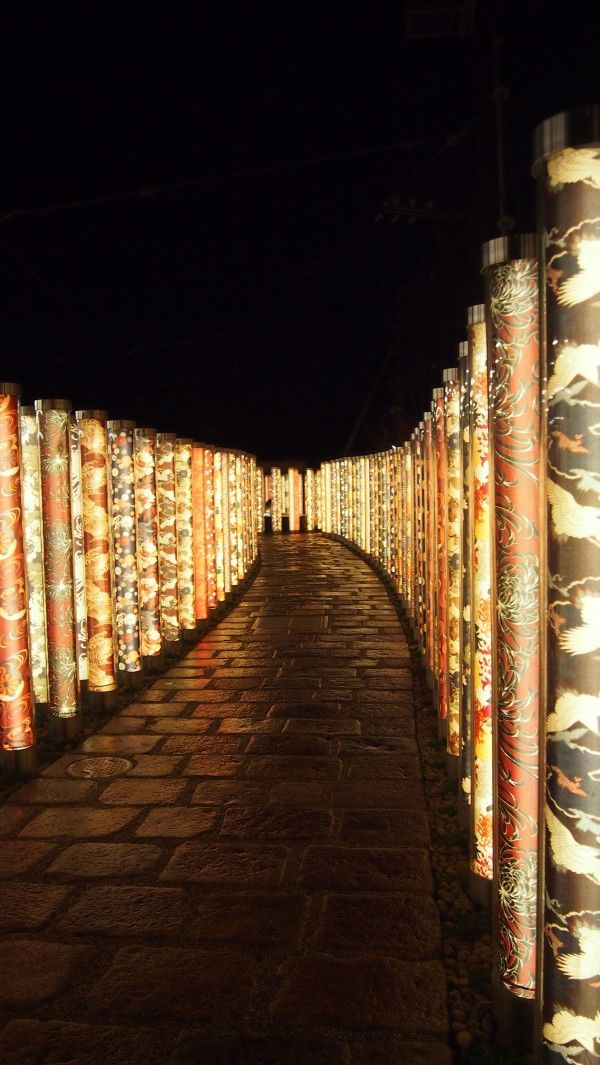 Arashiyama Hanatouro winter light festival, Kyoto, Japan Opens from: 11-20 Dec, 2015 Illumination hours: 500-830pm http://www.hanatouro.jp/e/index.html