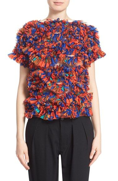 Tricot Comme des Garçons Print Ruffle Top available at #Nordstrom