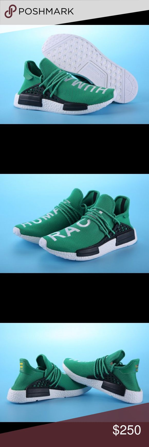 PW HUMAN RACE NMD (Green) Men's Size Best Replicas To Date!  Get Them While They Last...  Which Won't Be Long.  Once They Are Gone, They're Gone!  Shipping Information: Item is shipped to Buyer's Confirmed Address within 1-3 business days of cleared payment and given tracking number, if you want these urgently, Please DO NOT buy it!   Estimated time of delivery: 6-10 business days adidas Shoes Athletic Shoes