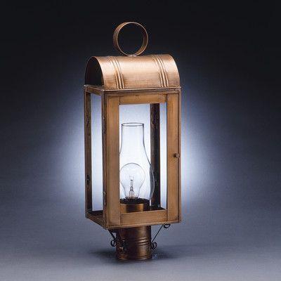 Northeast Lantern Livery Chimney Culvert Top 1 Light Lantern Head Finish: Antique Copper, Shade Type: Seedy Marine