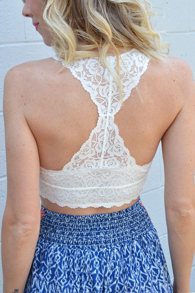 Nahoon Lace Bralette - White