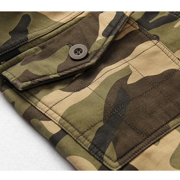 Winter Thick Fashion Cotton Warm Mens Cargo Pants Outdoor Casual Camouflage Pocket Overalls at Banggood