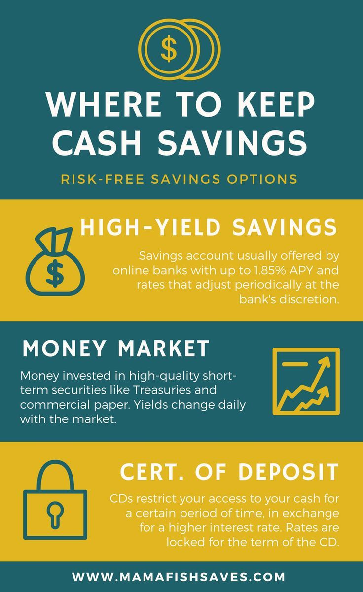 Where To Stash Your Cash 3 Types Of Risk Free Accounts Savings Infographic Emergency Fund Tips For Happy Life