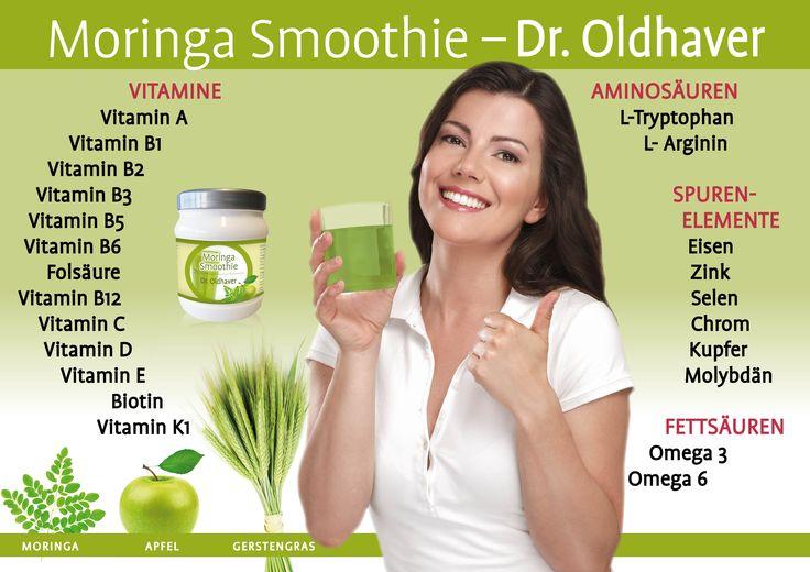 Inhaltsstoffe des Moringa Smoothie von Dr. Oldhaver, erhältlich unter http://www.droldhaver.de/Nahrungsergaenzung/Moringa-Smoothie--71.html