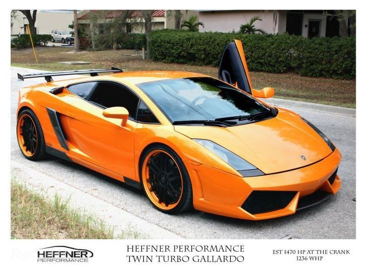Pictures And Details Of A Rebuilt Heffner Performance Lamborghini Gallardo  Twin Turbo That Produces On Race Fuel!