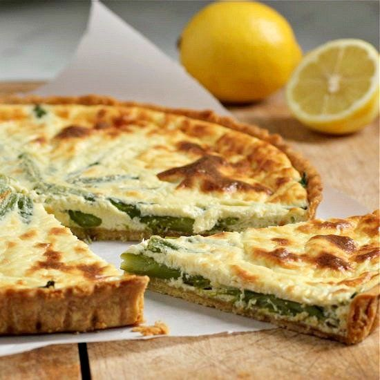 Lemon Ricotta Tart with Asparagus | Healthy Eats - Mains/Soups/For At ...