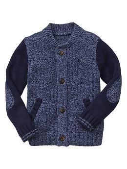 Gap Toddler Boy Contrast varsity sweater jacket