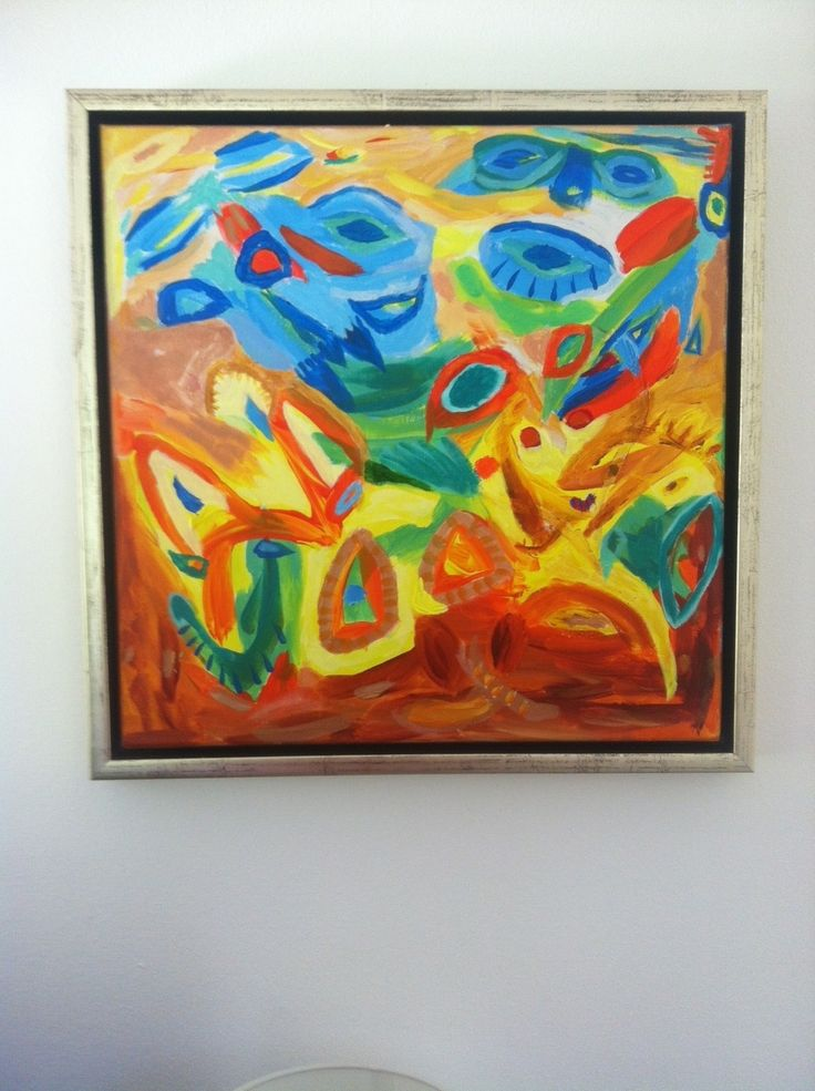 Creature delmondo - due...  Acrylic - 40 x 40 cm