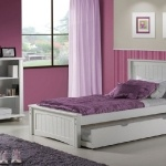 Cute trundle bed for the girls.