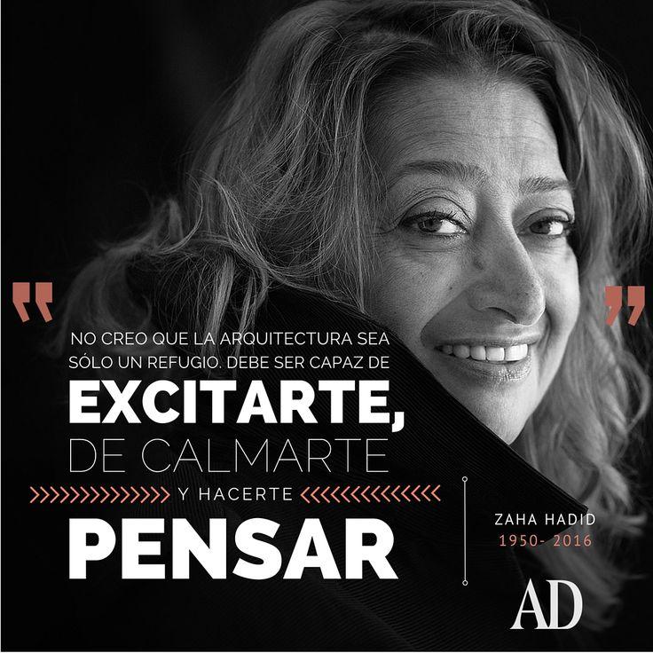 www.admexico.mx #ZahaHadid #quotes #frases #arquitectura #architecture
