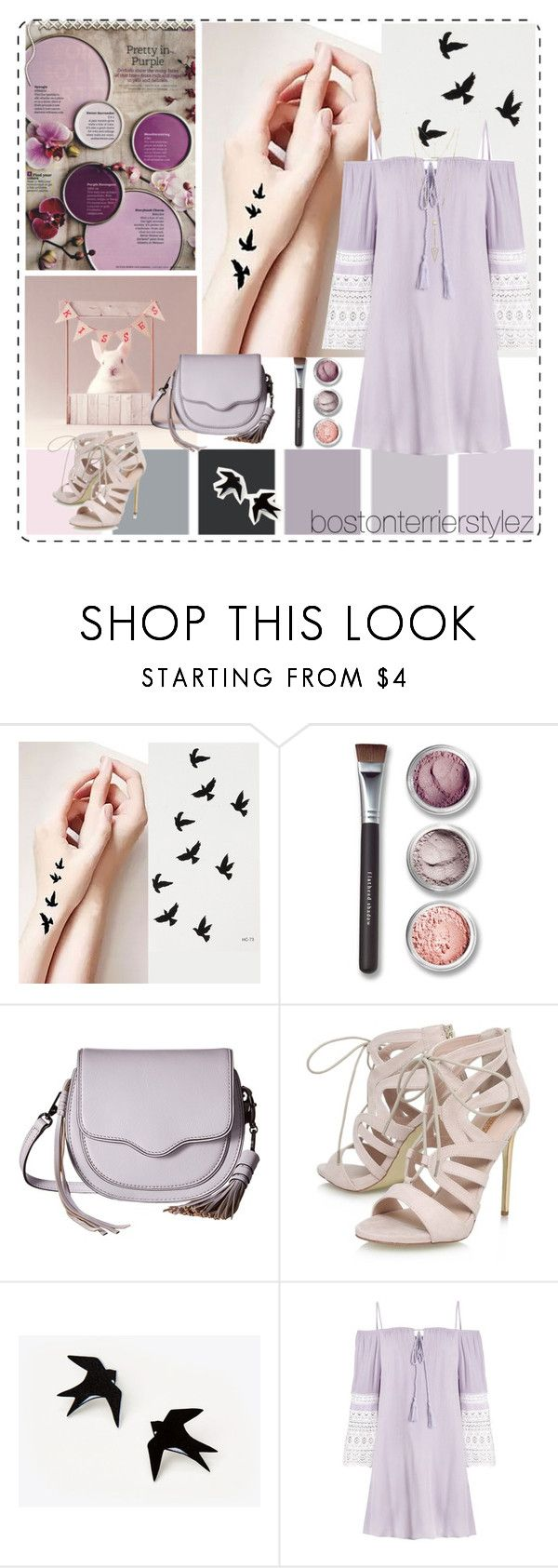 """""""Purple (& Some Pink)"""" by bostonterrierstylez ❤ liked on Polyvore featuring Seed Design, Bare Escentuals, Rebecca Minkoff, Carvela, House of Harlow 1960 and bostontseedscollection"""