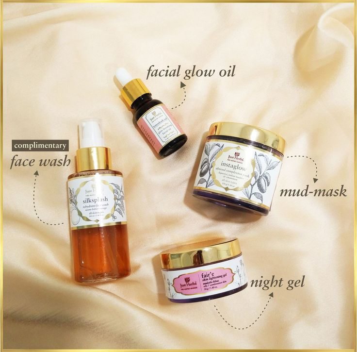 🌟🌟 If there is one set of products you need, to get that NATURAL GLOW, this is it!🌟🌟 Complete with a night gel, a mud mask and our iconic glow - boosting facial oil, this set also comes with a FREE Silksplash face Wash! So you pay for 3 products and get 4 super-effective, safe and natural wonders from Just Herbs !