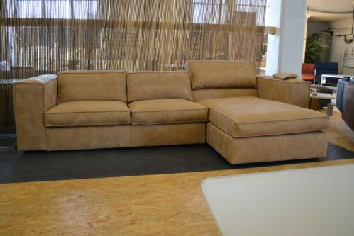 het anker sofa couch ecke longchair sassari leder braun lp. Black Bedroom Furniture Sets. Home Design Ideas