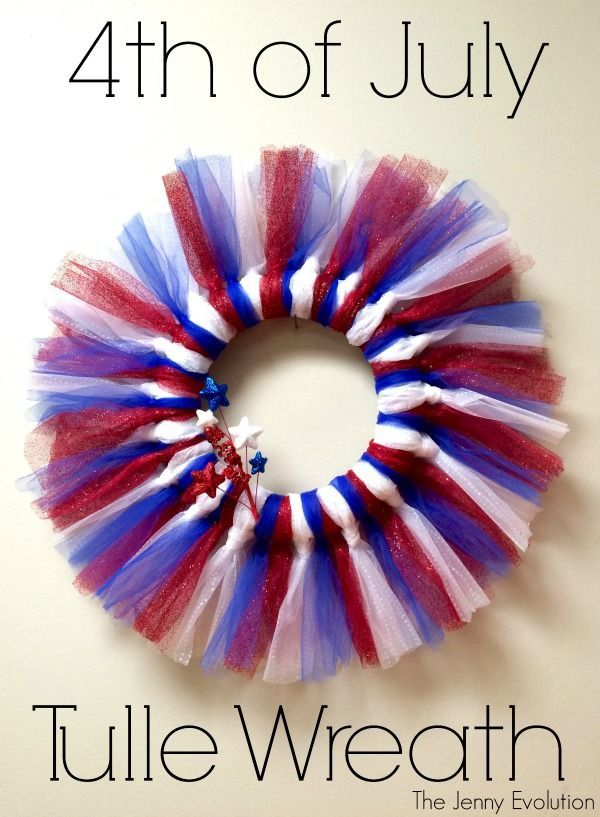 Patriotic 4th of July Tulle Wreath - Perfect for Independence Day!