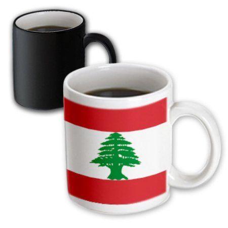 3dRose Lebanon Flag, Magic Transforming Mug, 11oz