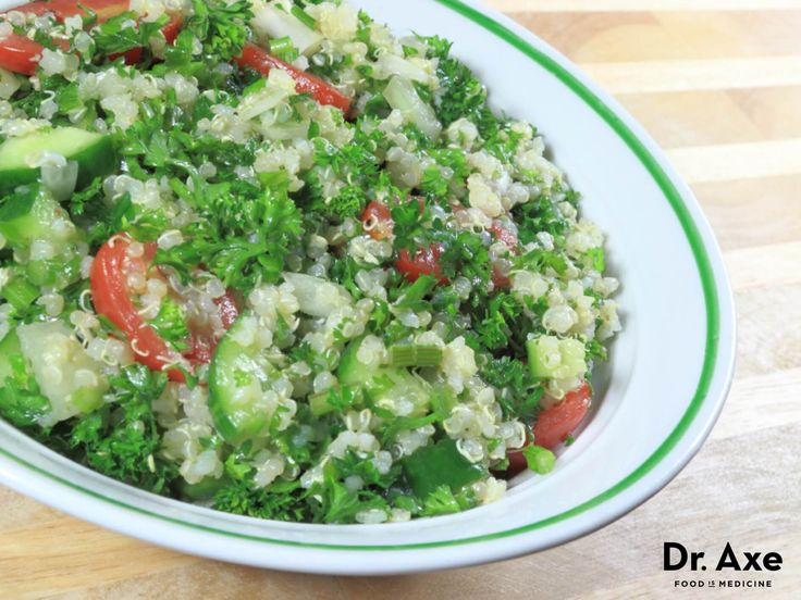 This Quinoa Tabouli Salad is a great addition to any meal! Quinoa is a grain that is higher in protein, fiber, magnesium and folate! Try it today!
