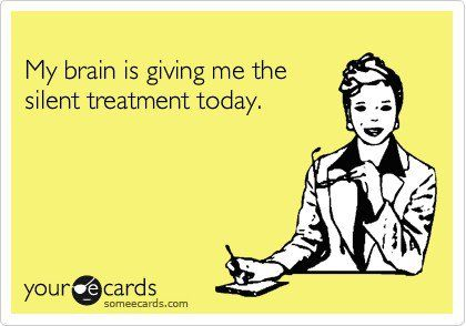 The mom brain!