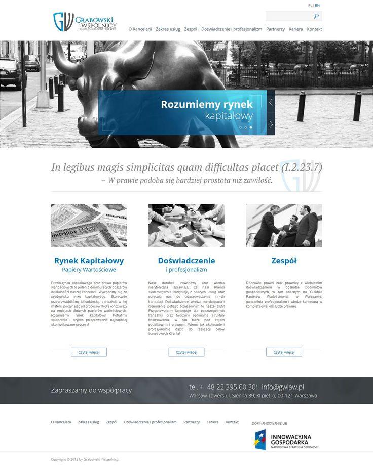 Strona internetowa kancelarii prawnej. Projekt strony internetowej dla branży prawnej. Webmedio. #law #website_lawyer #minimal_design  http://www.webmedio.pl/