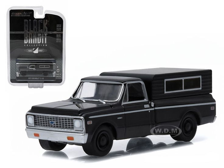 1972 Chevrolet C-10 Black Bandit Series 12 1/64 Diecast Car Model Greenlight 27790 B